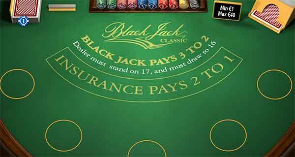 Blackjack spilleautomat