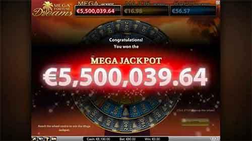 Mega Fortune Dreams Mega Jackpot