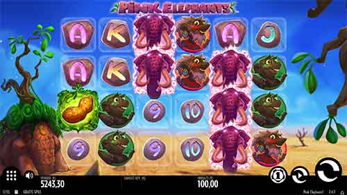 Pink Elephants spilleautomat Thunderkick