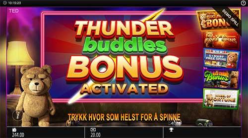 Ted Thunder Buddies bonus spilleautomat