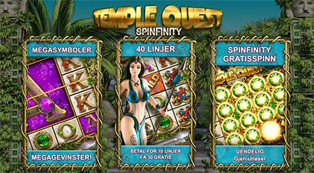 Temple Quest spilleautomat Big Time Gaming