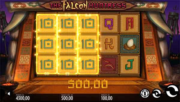 The Falcon Huntress spilleautomat Thunderkick