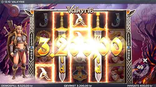 Valkyrie spilleautomat Sword of Destiny