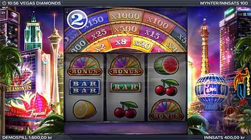 Vegas Diamonds lykkehjul