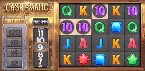 Cashomatic skjermbilde spilleautomat