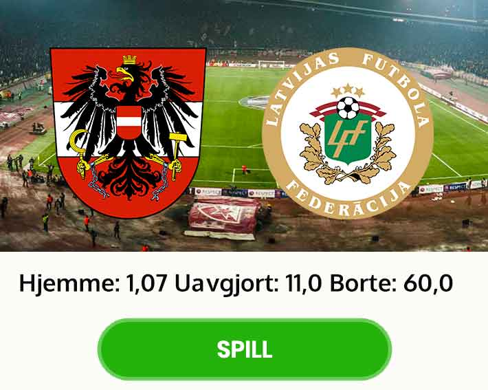 Tips odds resultat Østerrike Latvia