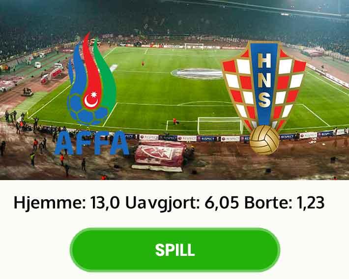 Aserbajdsjan Kroatia tips odds