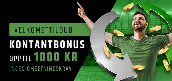 Fansbet velkomstbonus 1000 kroner