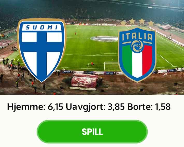 Finland Italia tips odds