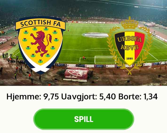 Skottland Belgia tips odds