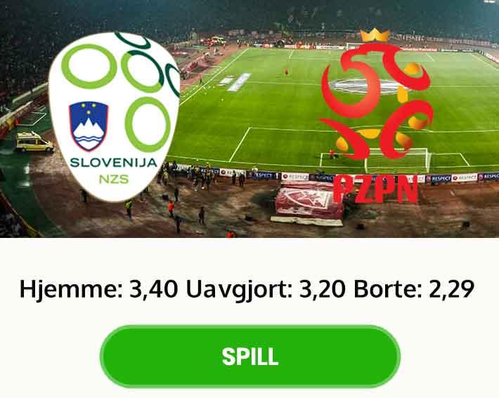 Slovenia Polen tips resultat odds
