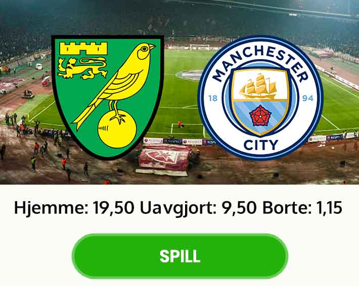 Tips resultat odds Norwich Manchester City