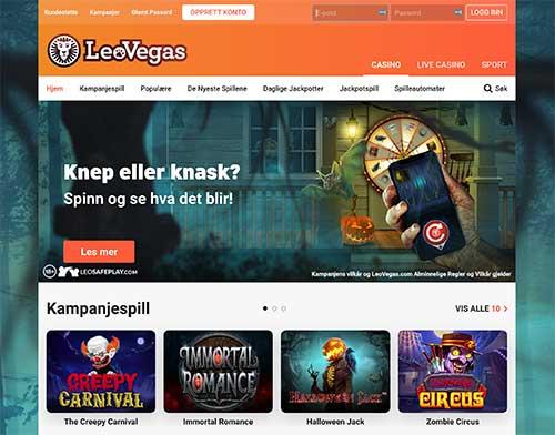 LeoVegas skjermbilde
