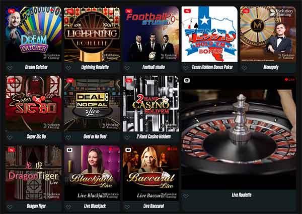 Live casino spin rider