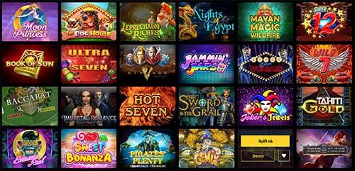 Zet Casino spillutvalg