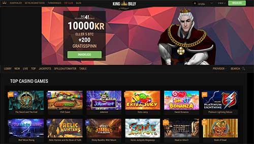 King Billy Casino skjermbilde