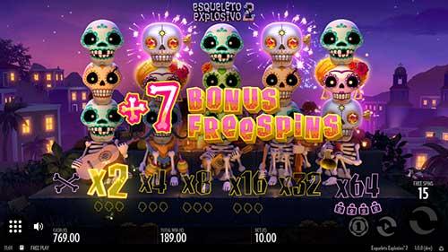Esqueleto Explosivo 2 ekstra freespins