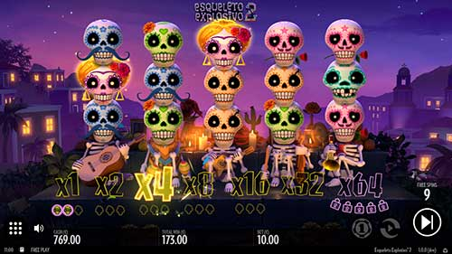 Esqueleto Explosivo 2 freespins