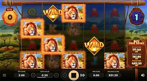 Serengeti Kings Lion Spins
