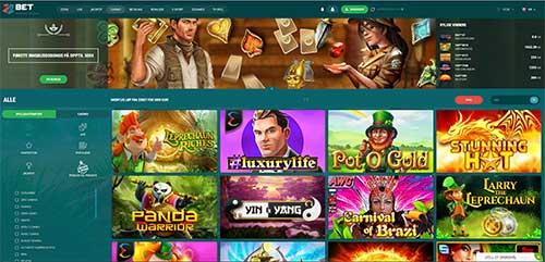 22 bet casino skjerm