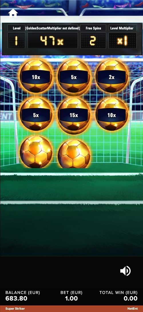 Super striker free spins