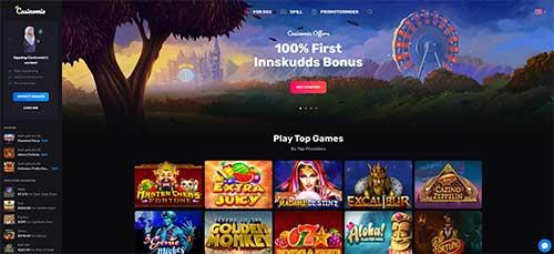 Casinomia skjermdump