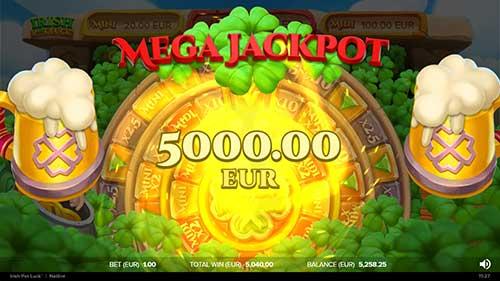 Irish Pot Luck jackpot