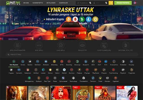 Fastpay casino hjemmeside