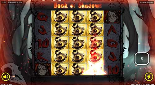 Book of Shadows freespins