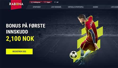 Rabona Casino hjemmeside