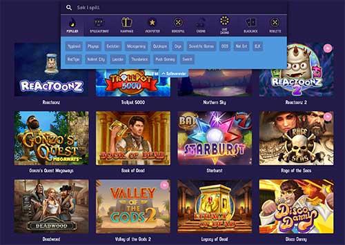 Gambola Casino spillutvalg