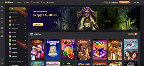 Fezbet Casino hjemmeside