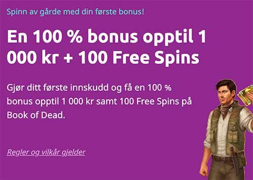 Spin Away casino bonus
