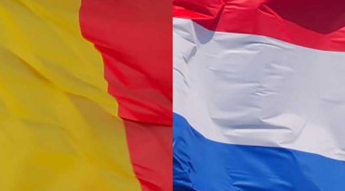 Flagg Belgia Nederland